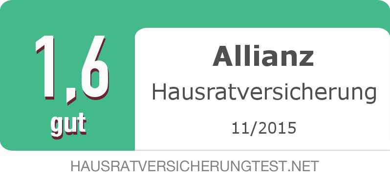Testsiegel: Allianz Hausratversicherung width=
