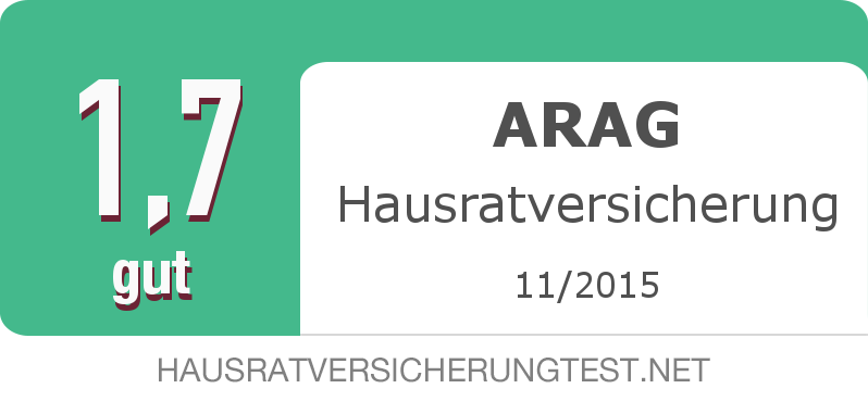 Testsiegel: ARAG Hausratversicherung width=
