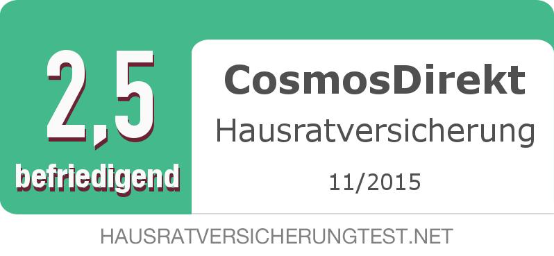 Testsiegel: CosmosDirekt Hausratversicherung width=