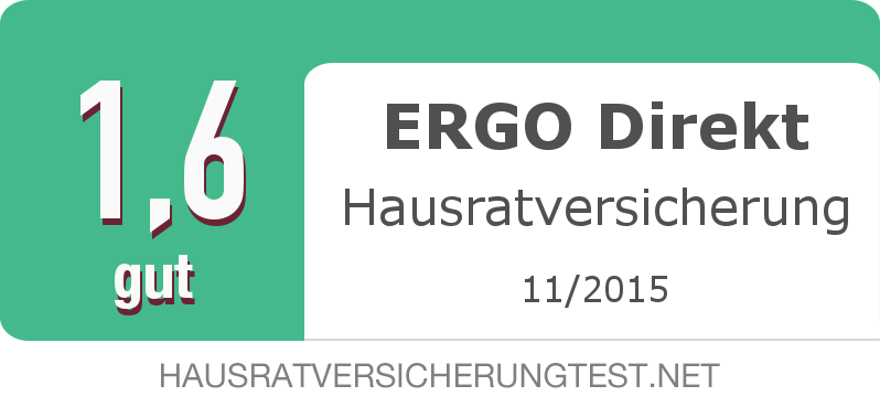Testsiegel: ERGO Direkt Hausratversicherung width=