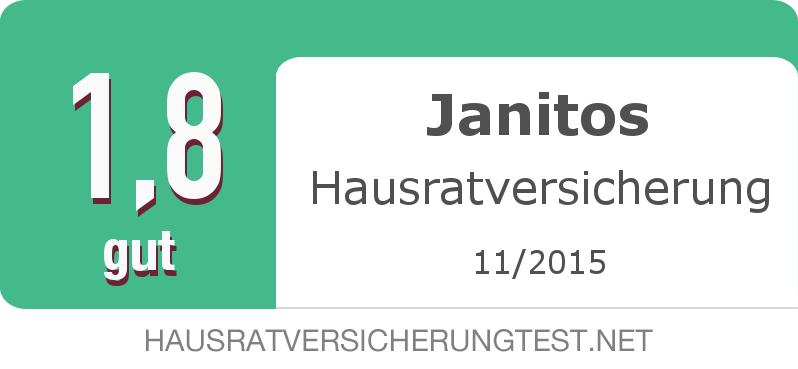 Testsiegel: Janitos Hausratversicherung width=