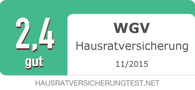Testsiegel: WGV Hausratversicherung width=