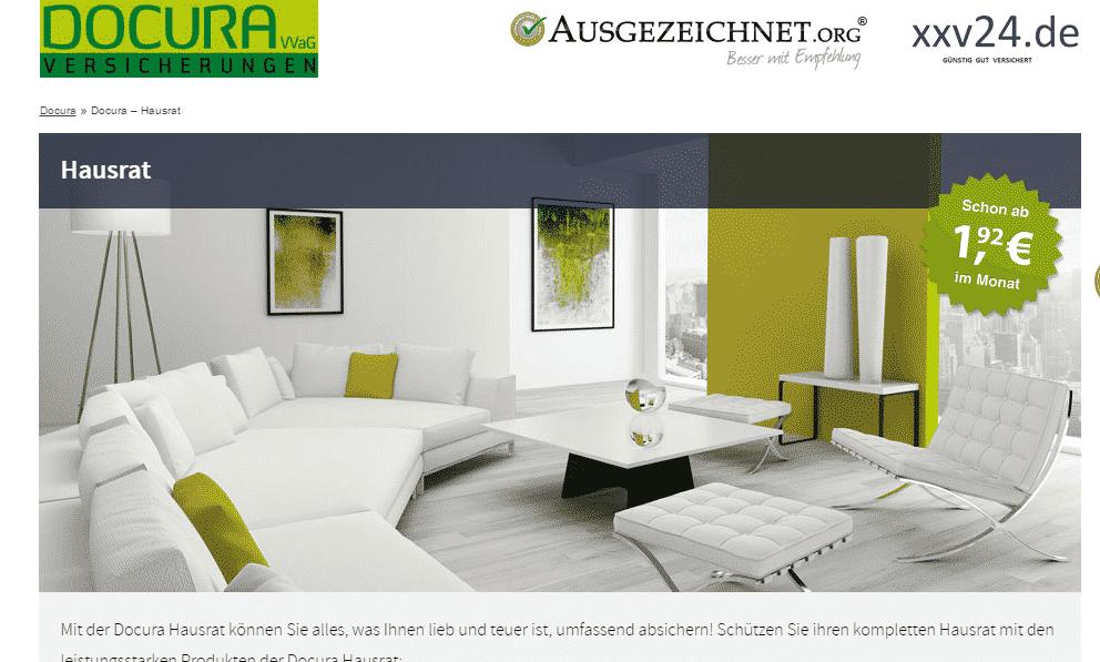 Die Webseite der Docura