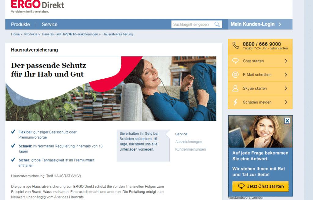 ERGO Direkt Webseite