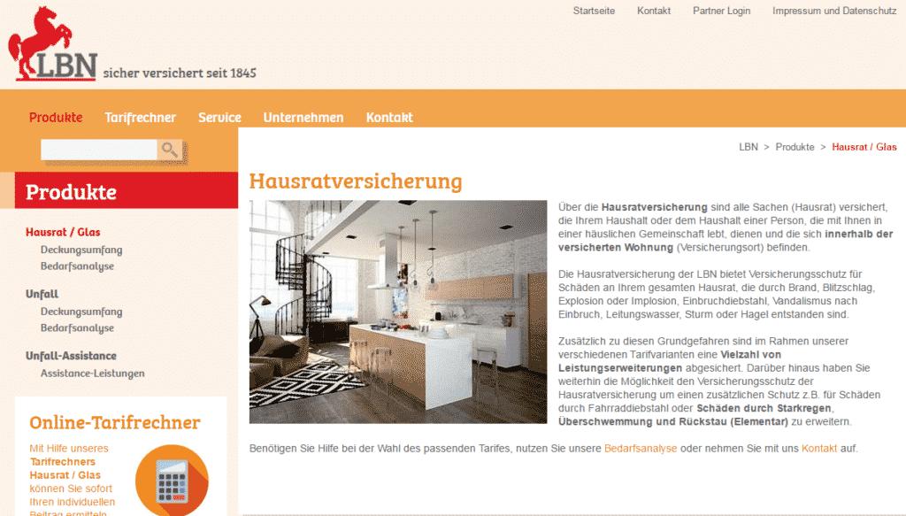 Webseite - LBN