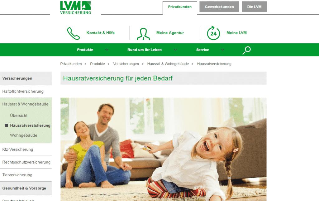 Die Webseite der LVM